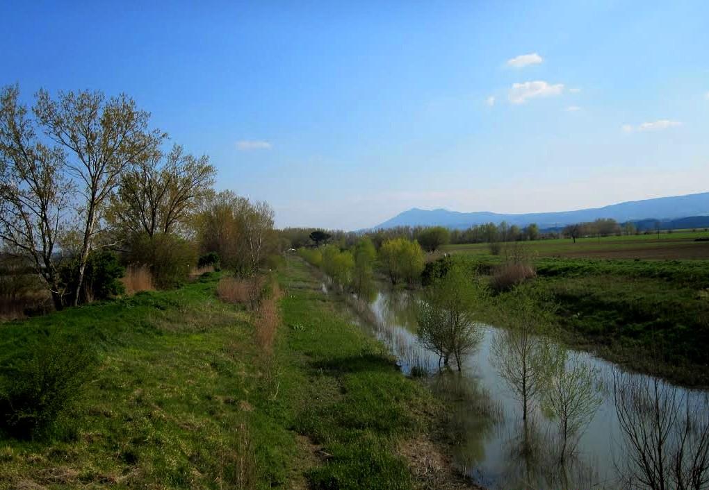 Il Canale Maestro della Chiana nei pressi del Lago di Montepulciano