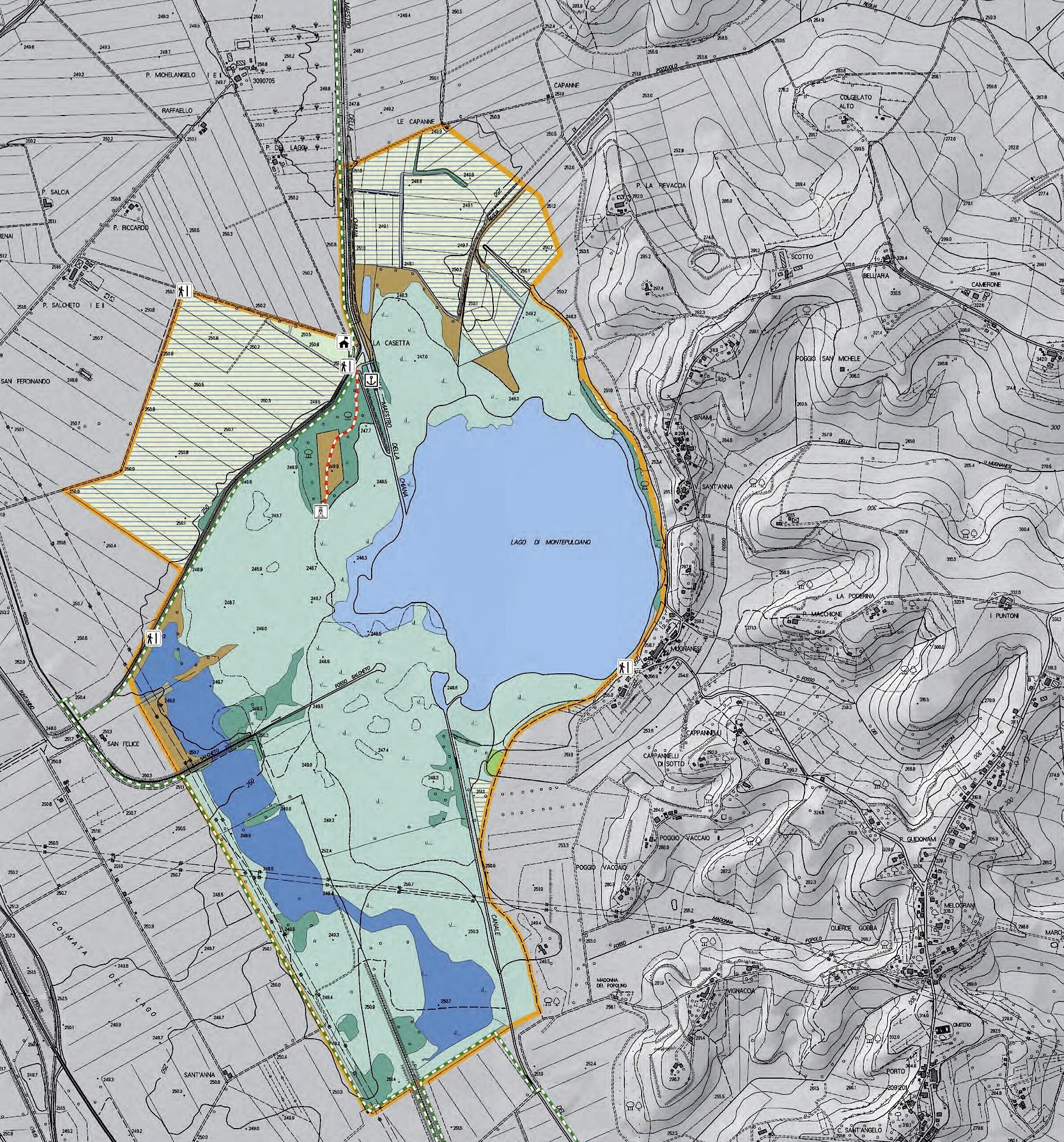 La carta del Lago di Montepulciano